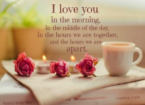 i love you in morning