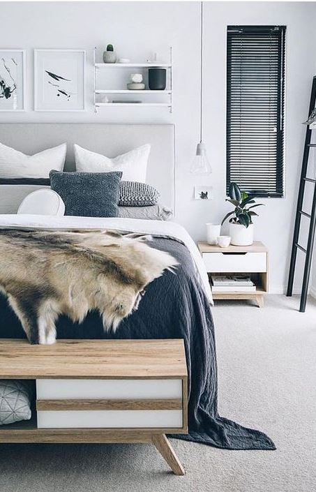 trendy scandinavian bedroom design