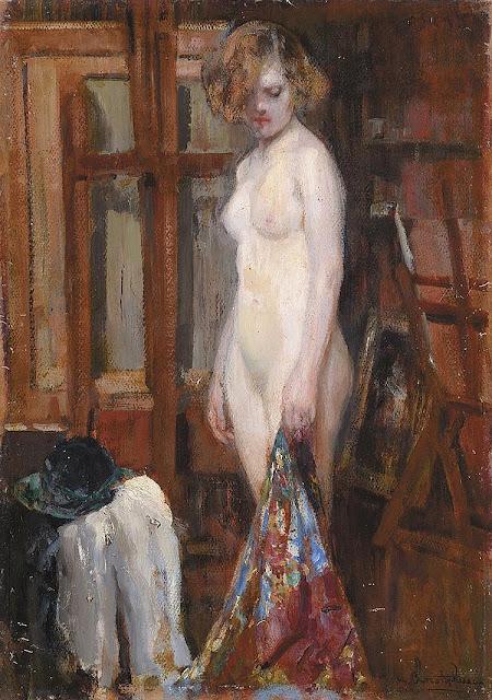 Alejandro Christophersen, Artistic Nude, Portrait arts, Nude Art, Human Study, Nude by Alejandro Christophersen, Painter Alejandro Christophersen
