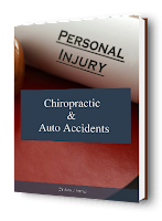 blog picture of law book with the words personal injury, auto accidents & chiropractic