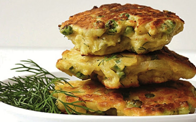 Potato and fennel fritters