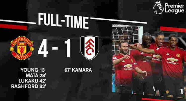 Video Manchester United vs Fulham Cuplikan Gol Skor Akhir 4-1