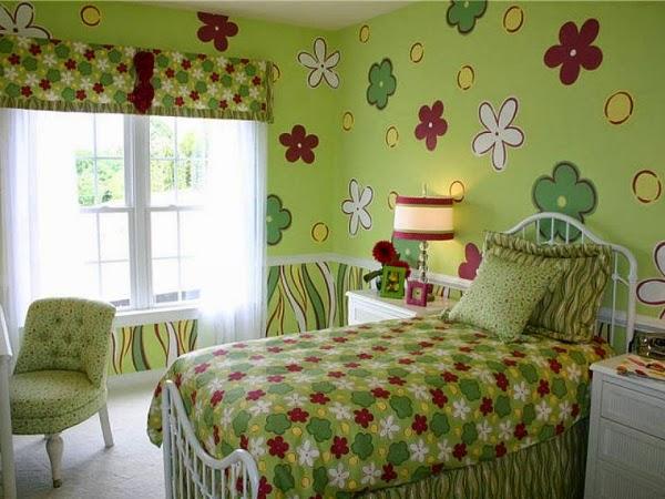 Dormitorios para ni as decorados con flores dormitorios for Cuarto lleno de rosas