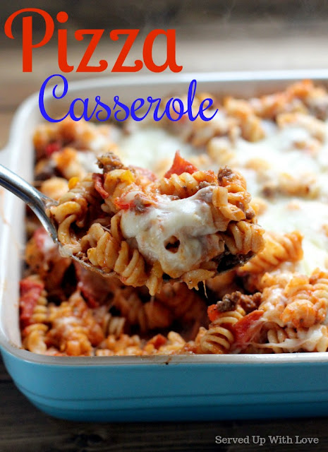 Pizza Casserole recipe from Served Up With Love