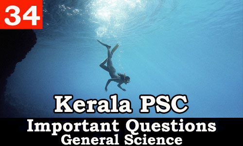 Kerala PSC - Important and Expected General Science Questions - 34