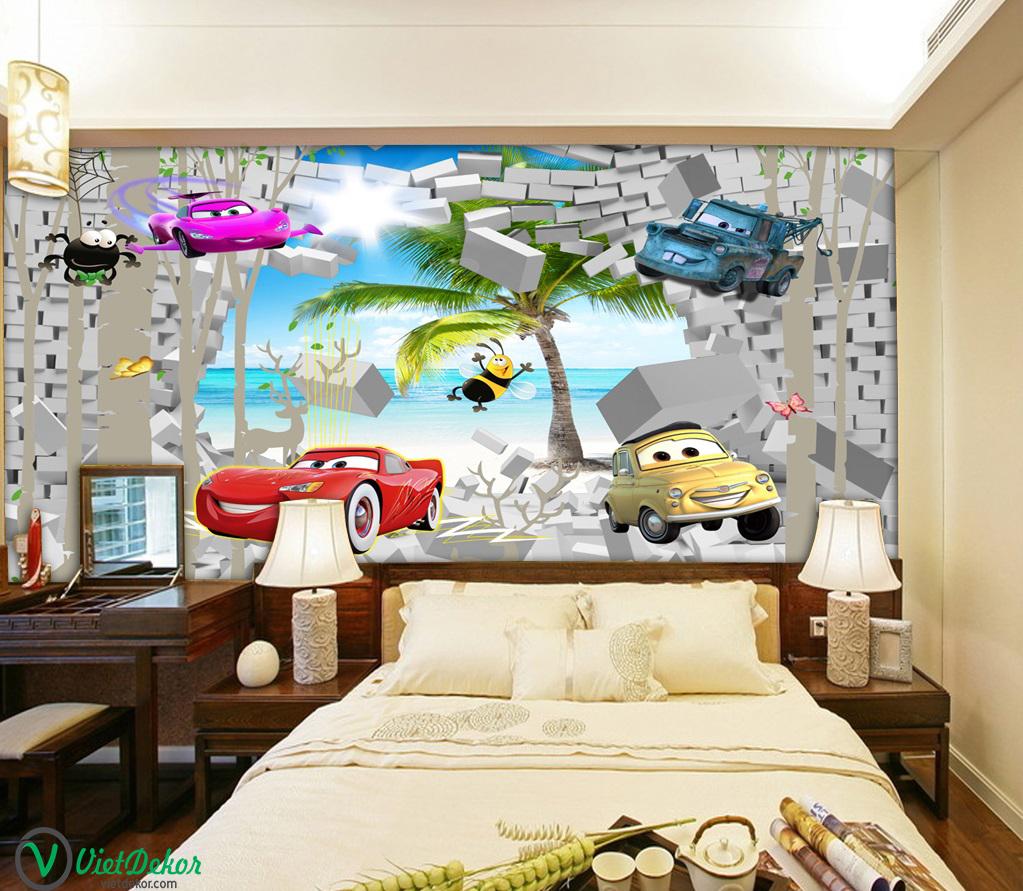 Tranh dán tường 3d trang trí phòng ngủ cho bé