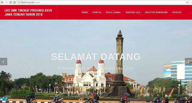 Website Resmi LKS Jateng XXVII Tahun 2018