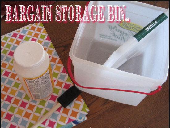 My Bargain Bins for Craft Storage