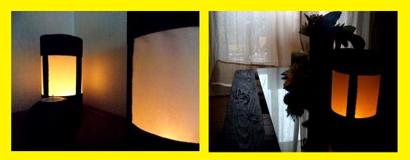 Lámparas hehcas con papel y cartón fácil