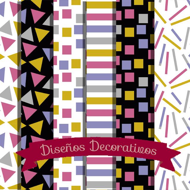 Papeles digitales: Diseños Decorativos.