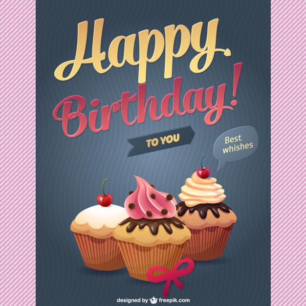 50 Vectores De Plantillas Para Tarjetas De Cumpleaños