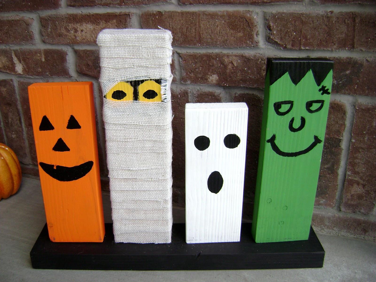 Homemade Halloween Crafts Diy: wooden halloween