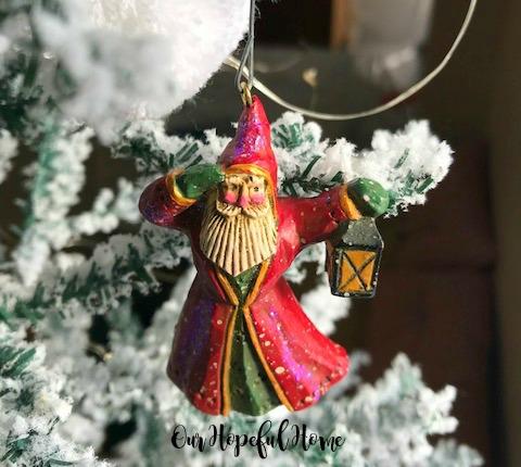 Santa lantern ornament