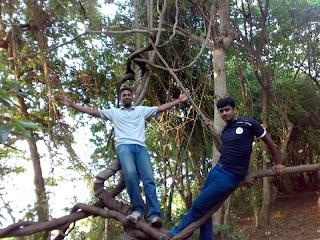 Siju and Lenish at Pathiramanal Alleppey