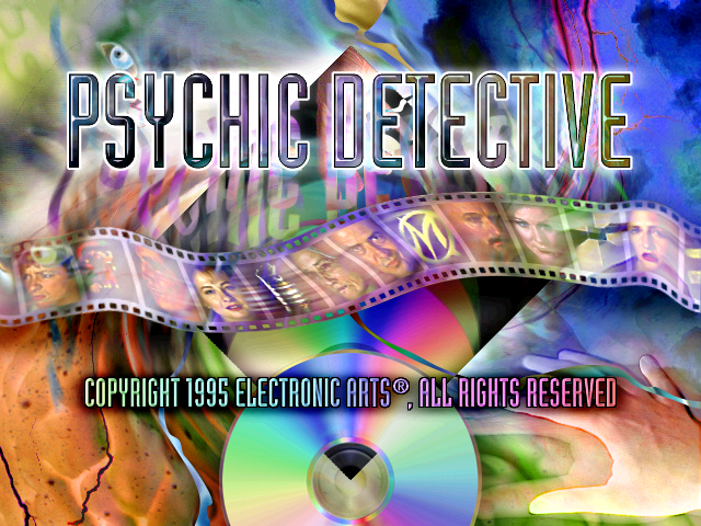 Psychic Detective title screen DOS