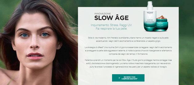 clicca qui per richiedere i campioni gratuiti Vichy Slow Age
