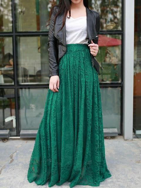 Maxi Elastic wasit  skirt