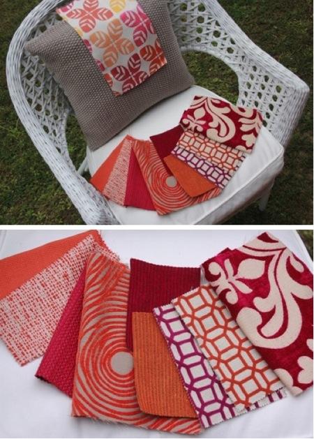 Natural Modern Interiors Pink Amp Orange Cushions Fabrics
