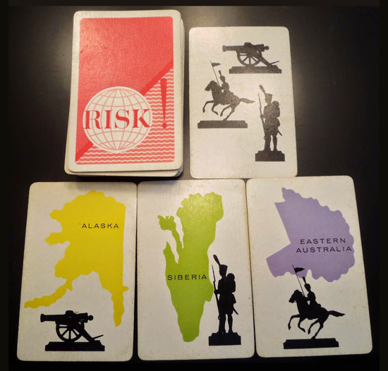 Risk first version 1959 - cards