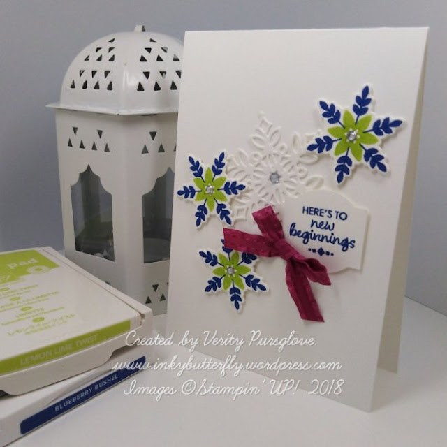 Happiness Surrounds and Snowfall Thinlits from Stampin Up