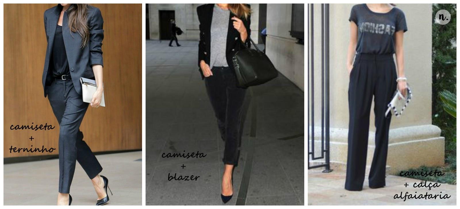 camiseta terninho terno feminino clássico formal sofisticado alfaiataria jeans e camiseta blazer e camiseta