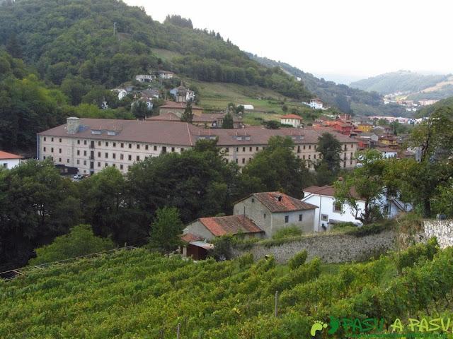 Viñas y convento de Corias