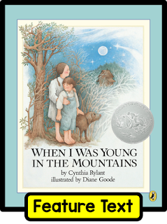 Author Cynthia Rylant shares her childhood experiences growing up in the mountains of West Virginia in this great book. It's perfect for illustrating voice in writing and much more. Check out this post on building voice in writing.