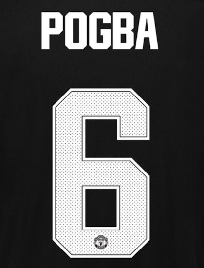 All-New Manchester United 17-18 Kit Font Revealed - Footy