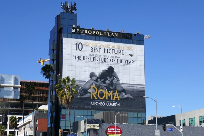 Giant Roma Oscar nominee billboard