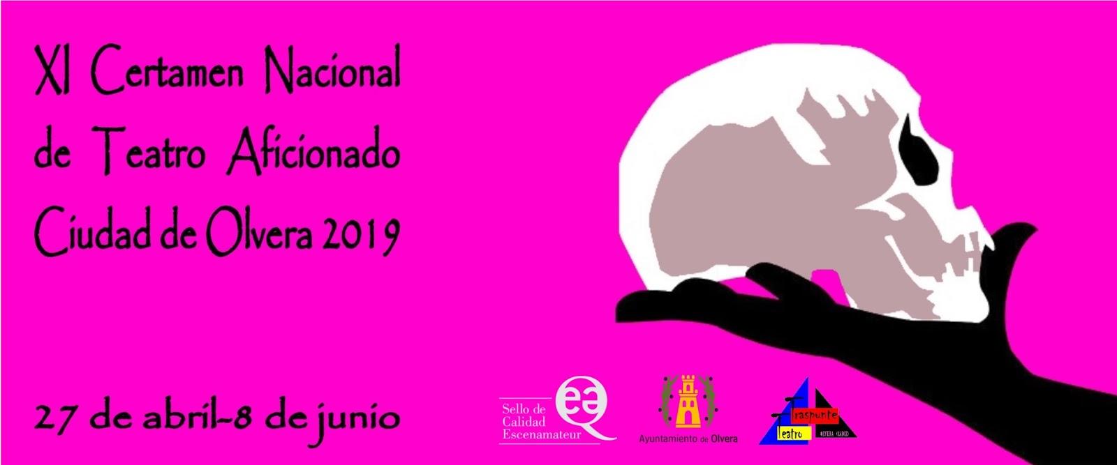 Inscripciones recibidas XI Certamen Nacional de Teatro Aficionado Ciudad de Olvera 2019
