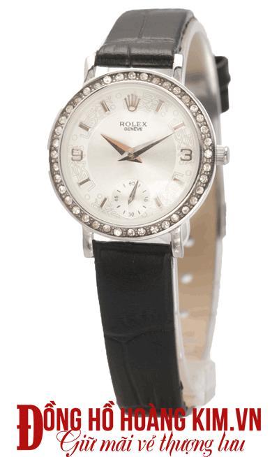 đồng hồ nữ dây da đẹp đính đá