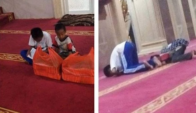 Keren, Setiap Hari Berjualan di Lampu Merah, Dua Bocah Ini Selalu Sempatkan Waktu Untuk Sholat Berjamaah