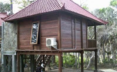 Desain Rumah Panggung Berbahan Kayu