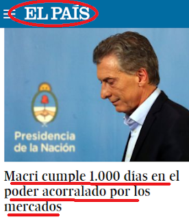 Para un diario español macri está acorralado