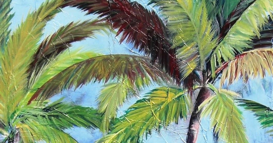 Kristen Abrahamson Contemporary Fine Art Palm Tree Paintings
