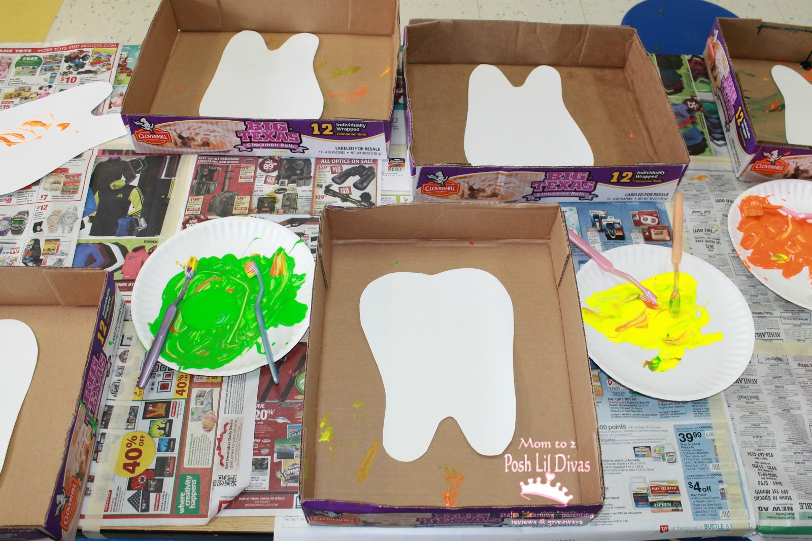Have Fun Painting With Toothbrushes