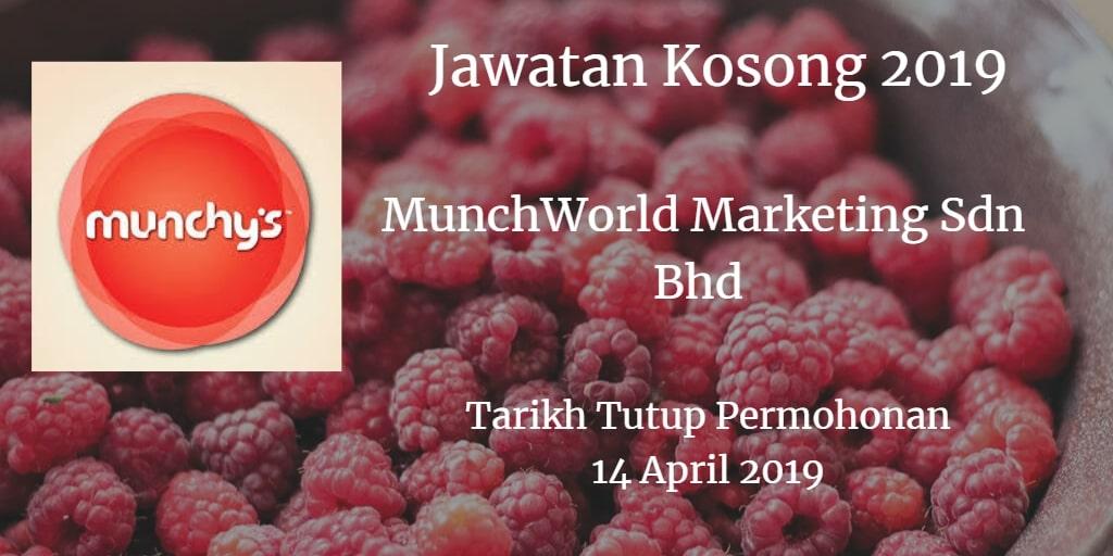 Jawatan Kosong MunchWorld Marketing Sdn Bhd 14 April 2019
