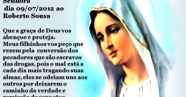Mensagens De Nossa Senhora Para Facebook: Comunidade Católica Milagre Da Vida: MENSAGENS DE NOSSA