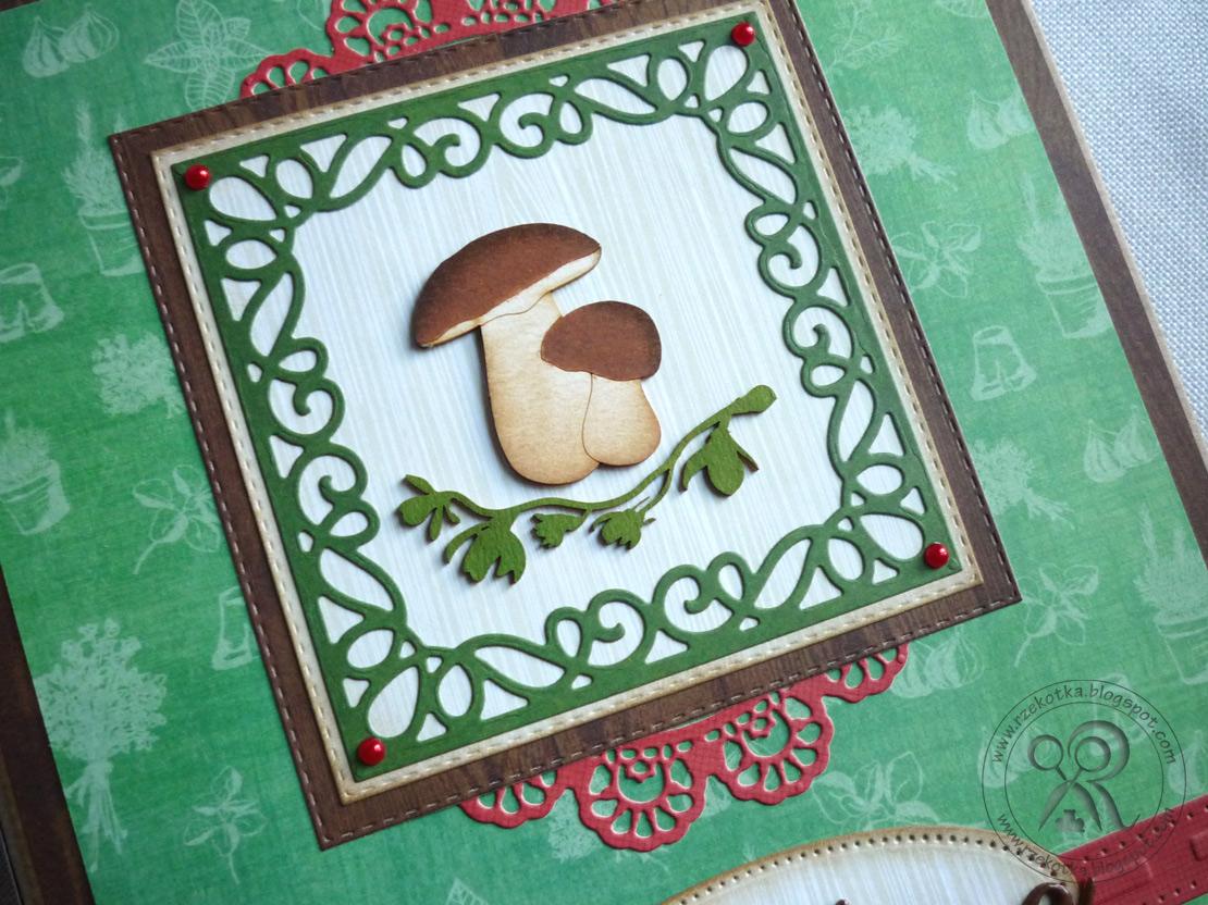 Przepiśnik handmade z grzybkami