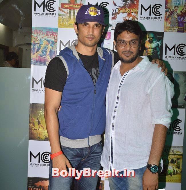 Sushant Singh Rajput and Mukesh Chhabra, Shradha  & Aditi at Mukesh Chhabra Casting Studio Launch