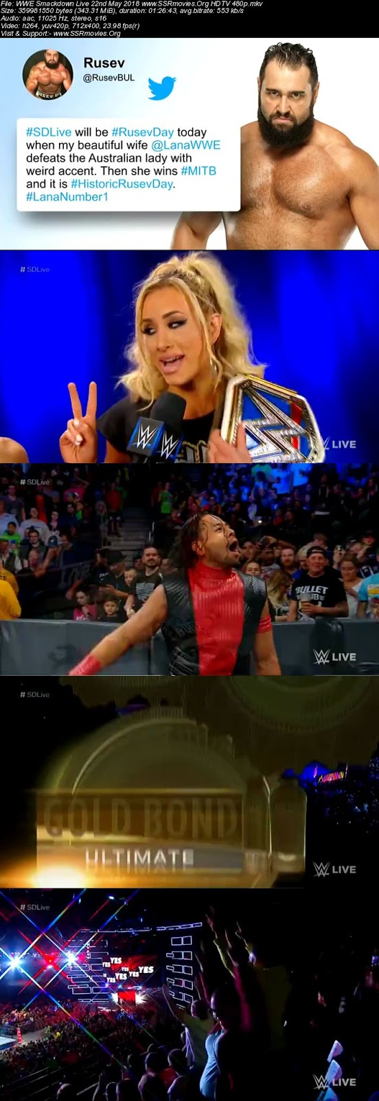WWE Smackdown Live 22nd May 2018 Download