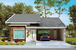 Fachadas de Casas Simples com Telhado Aparente