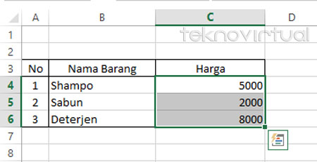 Indonesia Rupiah Pada Microsoft Excel 2013