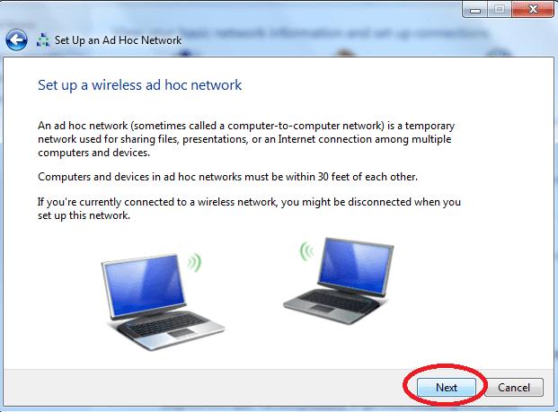 Cách phát wifi trên laptop Windows 7