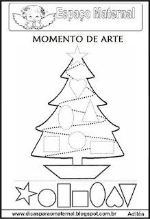 Desenho pinheiro de natal