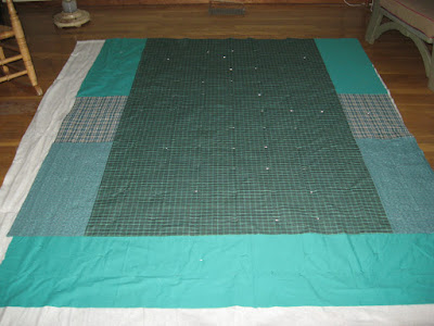 pieced quilt back, unquilted