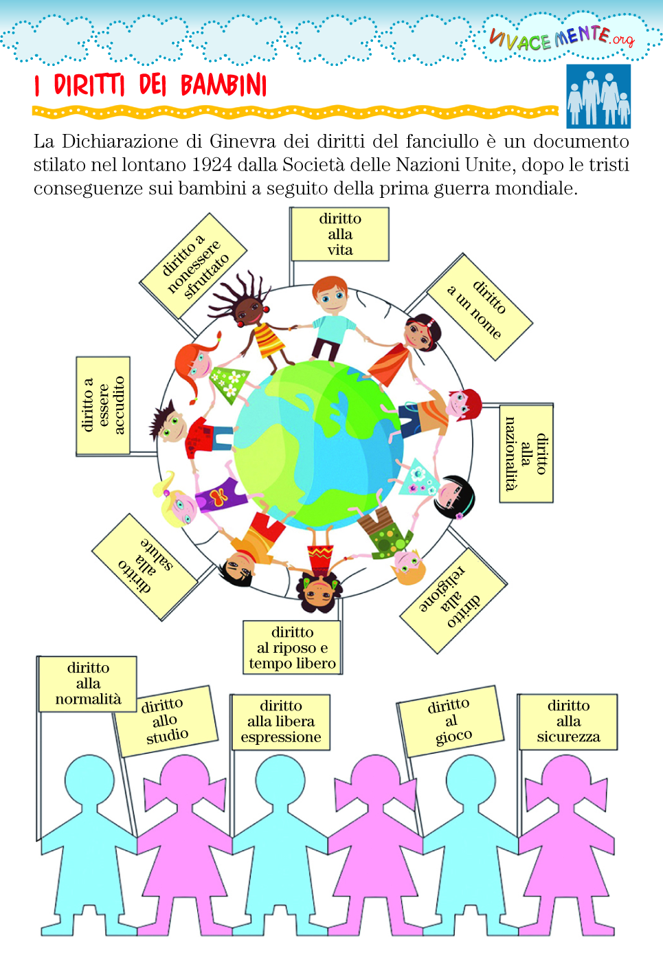 Schede Da Colorare Sui Diritti Dei Bambini Festa Dei