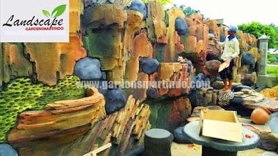 tukang kolam dekorasi tebing