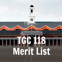 TGC 118 Merit List