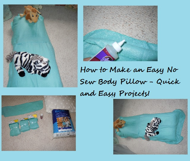How to Make an Easy No Sew Body Pillow a Free Pattern!